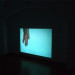 Sini Pelkki, Embarkation, installation view, 16mm Film transferd to HD, 7min. 33s, 2012.