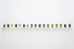 Lia Cecchin, Untitled, 2010, Cans opened without the use of can opener. Variable number and dimensions.